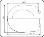 Сиденье для унитаза СУ 70.04.80 (Суперкомпакт, Лира КСФ)