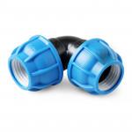 Unio Угольник компрессионный для труб ПНД пластиковый
