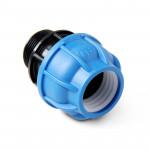Unio Муфта компрессионная с наружной резьбой для труб ПНД пластиковая