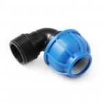 Unio Угольник компрессионный с наружной резьбой для труб ПНД пластиковый