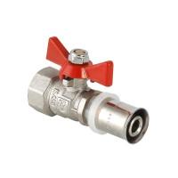 """Кран шаровый с пресс-соединением и внутренней резьбой для металлопластиковых труб (рукоятка - бабочка) 16х1/2"""" VT.242"""