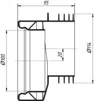 Манжета для унитаза белая эксцентрическая 20 мм АНИ