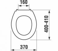 Сиденье для унитаза LYRA, дюропласт Jika арт.9251.5