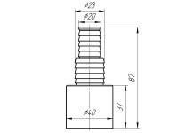 Отвод для стиральной машины 40 АНИ М160
