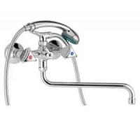 Смеситель для ванны и душа 604 M PLUS, S300мм, сэт, резина