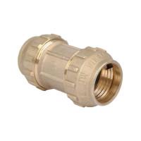Соединитель ПНД 32 мм (латунь)