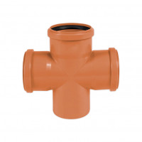 Крестовина ПВХ для наружной канализации
