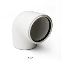 Отвод для малошумной канализации Polytron Stilte (белый)