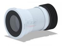 Гофра для унитаза 110 мм АНИ с мет. спиралью (185-350 мм)