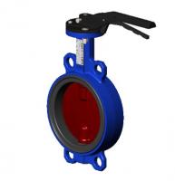 Затвор поворотный межфланцевый (корпус - чугун, диск - чугун) TECOFI