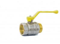 Кран шаровый латунный для газа GAS LD Pride ВР-НР, ручка - рычаг