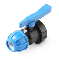 Unio Кран шаровый для труб ПНД с внутренней резьбой (пластиковый)
