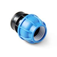 Unio Муфта компрессионная с внутренней резьбой для труб ПНД пластиковая