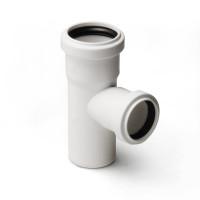 Тройник для малошумной канализации Polytron Stilte (белый)