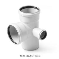 Крестовина двухплоскостная для малошумной канализации Polytron Stilte (белая)
