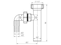 """Вставка с отводом для стиральной машины 1 1/2""""х32 АНИ М120"""