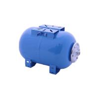 Бак мембранный для горячего и холодного водоснабжения горизонтальный (синий),