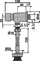 Клапан для писсуара автоматический ATS001 Alcaplast