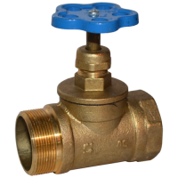 Вентиль (клапан) латунный пожарный КПЛП прямой 15Б3р ВР-НР