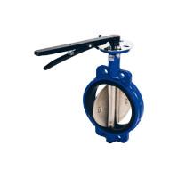 Затвор поворотный межфланцевый тип 017W (корпус - чугун, диск - нержавеющая сталь) Dendor